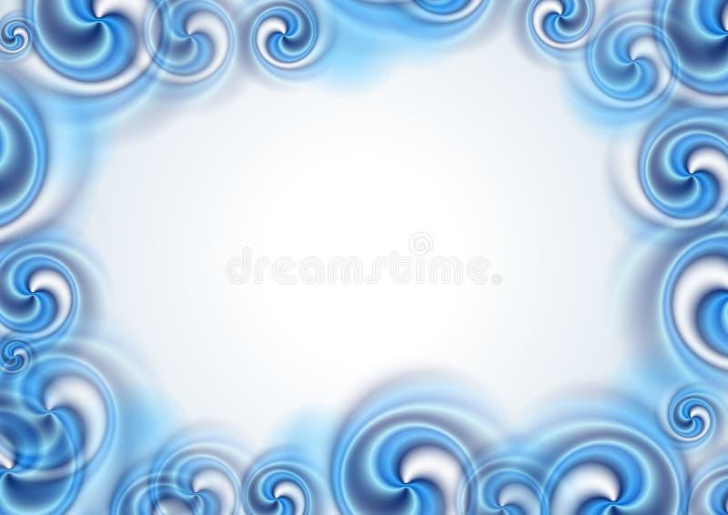 Αφηρημένες μπλε μορφές στροβίλου στο άσπρο υπόβαθρο ελεύθερη απεικόνιση δικαιώματος