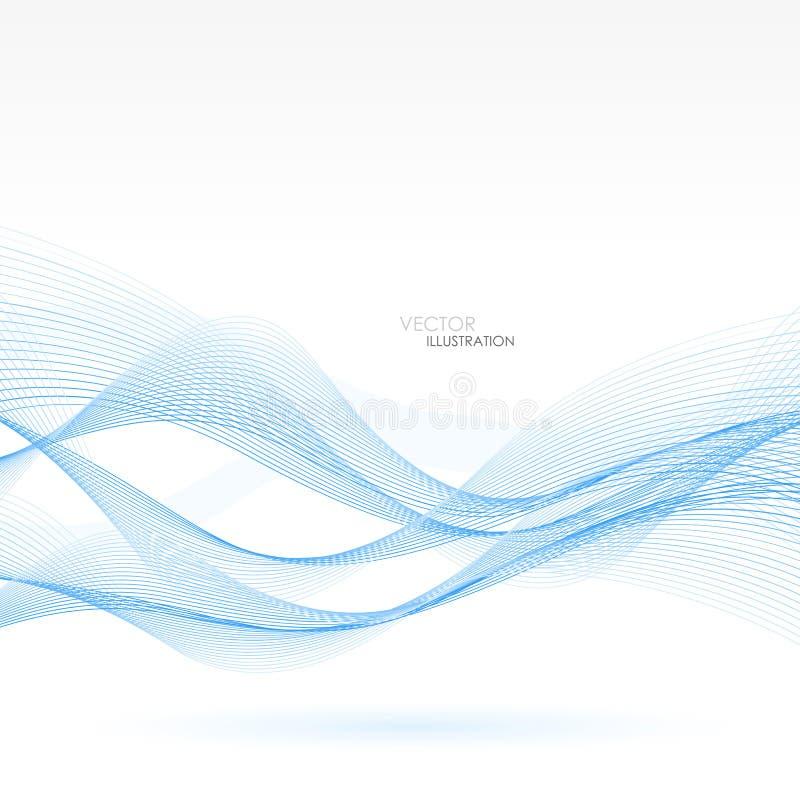 αφηρημένες μπλε γραμμές ανασκόπησης επίσης corel σύρετε το διάνυσμα απεικόνισης απεικόνιση αποθεμάτων