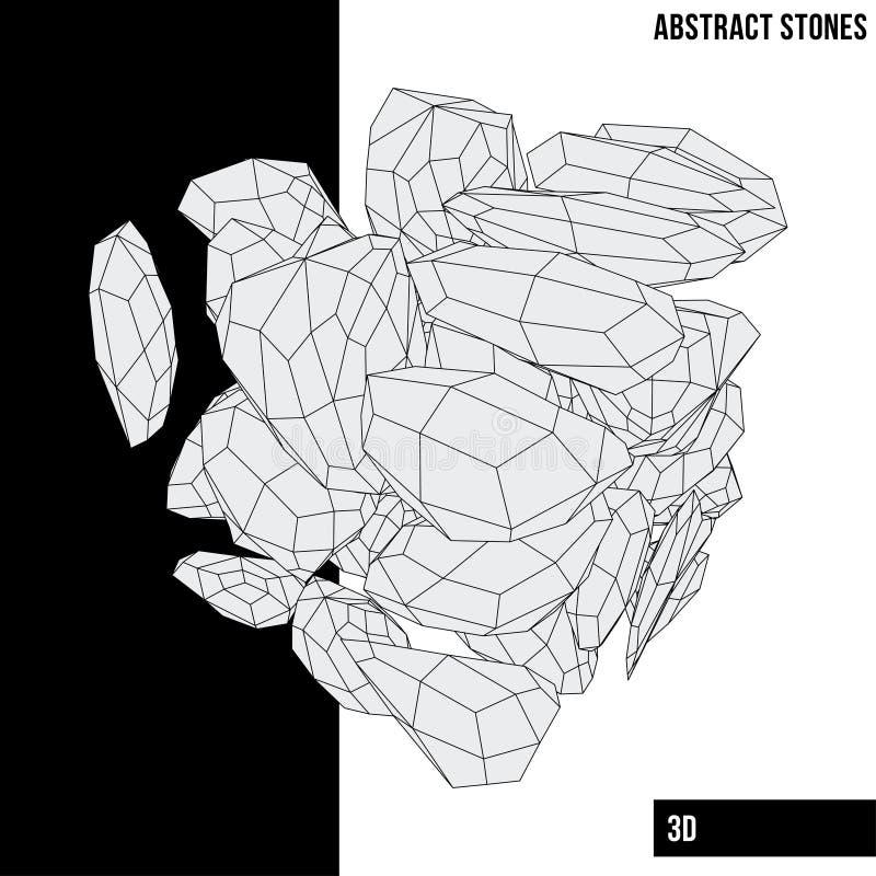 αφηρημένες πέτρες απεικόνιση αποθεμάτων
