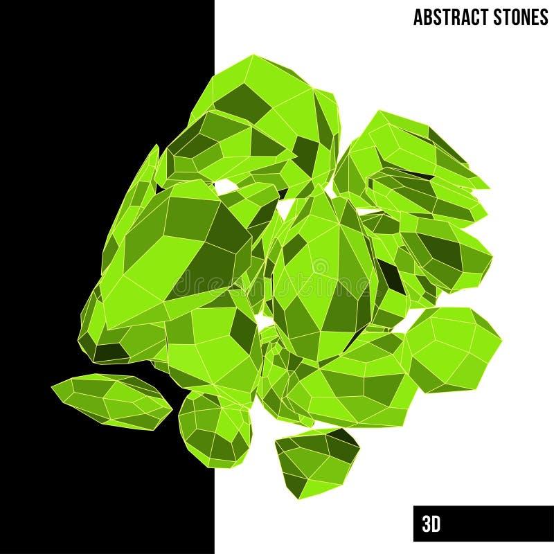 αφηρημένες πέτρες διανυσματική απεικόνιση