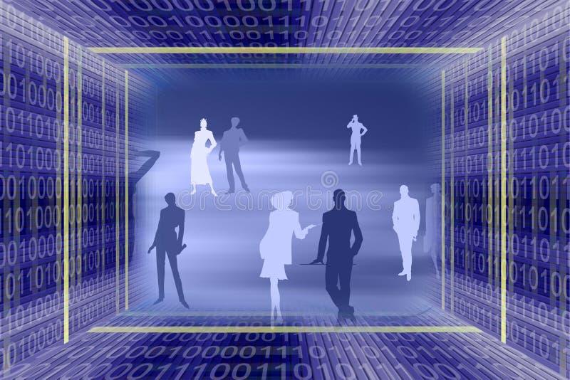 αφηρημένες πληροφορίες technol διανυσματική απεικόνιση