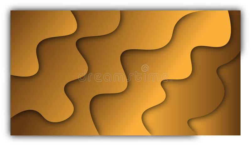 Αφηρημένες πορτοκαλιές μορφές διανυσματική απεικόνιση