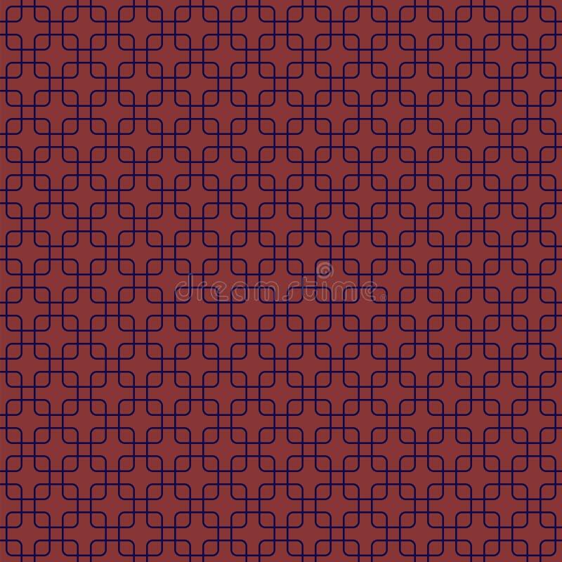Αφηρημένες τετραγωνικές μορφές E απλός σολομός και μπλε επαναλαμβανόμενο υπόβαθρο υφαντικό χρώμα swatch υφάσματος απεικόνιση αποθεμάτων