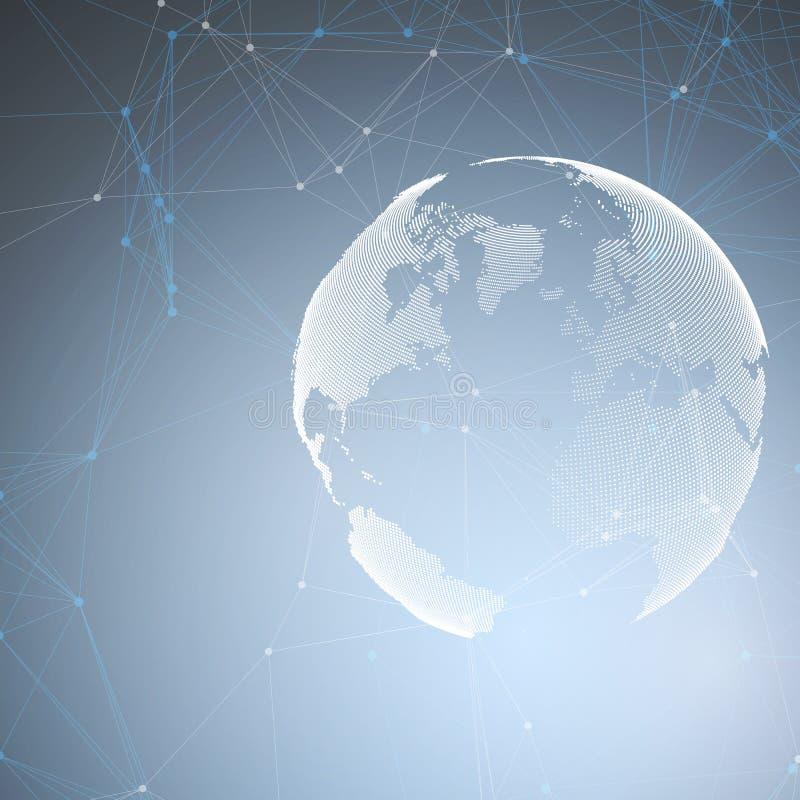 Αφηρημένες φουτουριστικές μορφές δικτύων Υπόβαθρο υψηλής τεχνολογίας HUD, συνδέοντας γραμμές και σημεία, polygonal γραμμική σύστα απεικόνιση αποθεμάτων