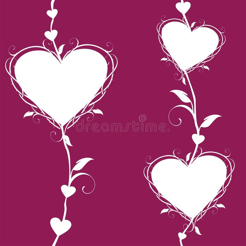 Αφηρημένες floral καρδιές ελεύθερη απεικόνιση δικαιώματος