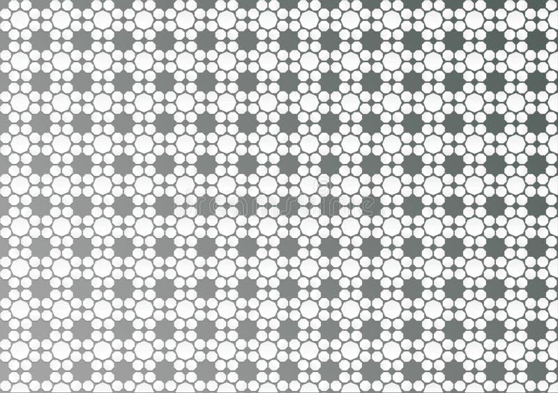 Αφηρημένη άσπρη γεωμετρική Floral σύσταση στο γκρίζο υπόβαθρο στοκ φωτογραφία