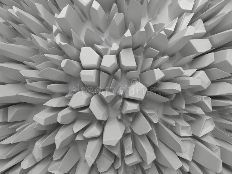 Αφηρημένη άσπρη εδροτομημένη πολύτιμους λίθους ανασκόπηση δομών διανυσματική απεικόνιση