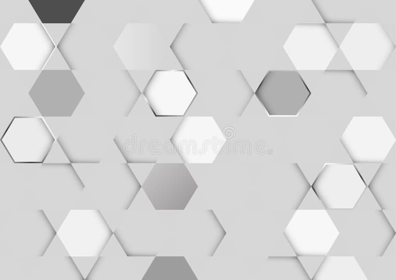 Αφηρημένη άσπρη και γκρίζα χρώματος διανυσματική απεικόνιση σχεδίου υποβάθρου τεχνολογίας σύγχρονη απεικόνιση αποθεμάτων