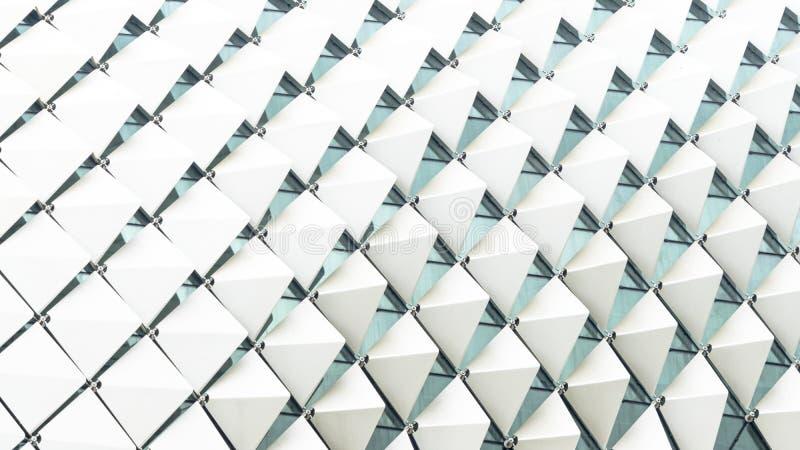 Αφηρημένη άσπρη κλίση σχεδίων ορθογωνίων διπλωμένη τετράγωνο στοκ εικόνες με δικαίωμα ελεύθερης χρήσης