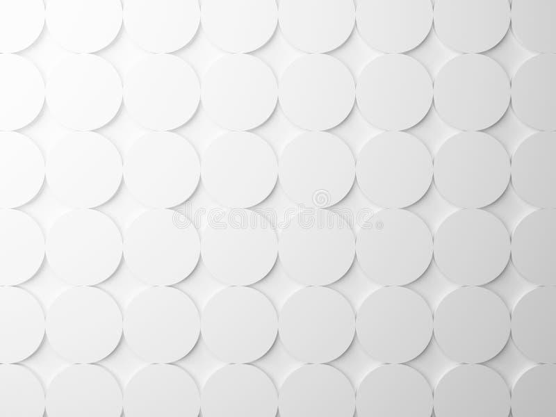 Αφηρημένη άσπρη σύσταση με τα στρογγυλά στοιχεία στοκ φωτογραφίες