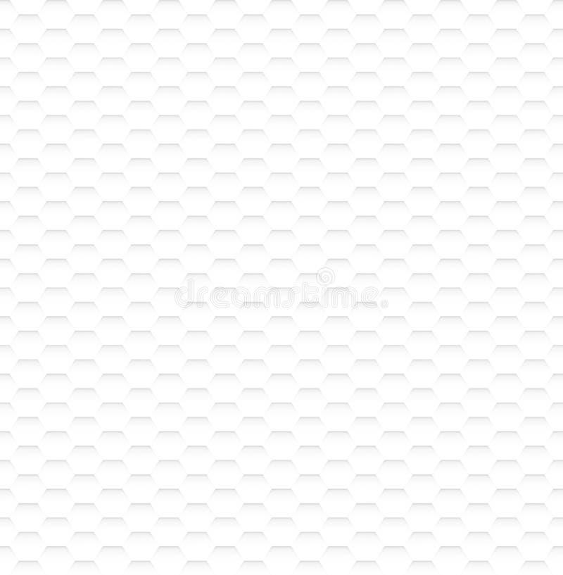 Αφηρημένη άσπρη Hexagon σύσταση άνευ ραφής στοκ φωτογραφία με δικαίωμα ελεύθερης χρήσης