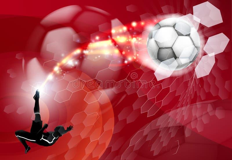 Αφηρημένη αθλητική ανασκόπηση ποδοσφαίρου διανυσματική απεικόνιση