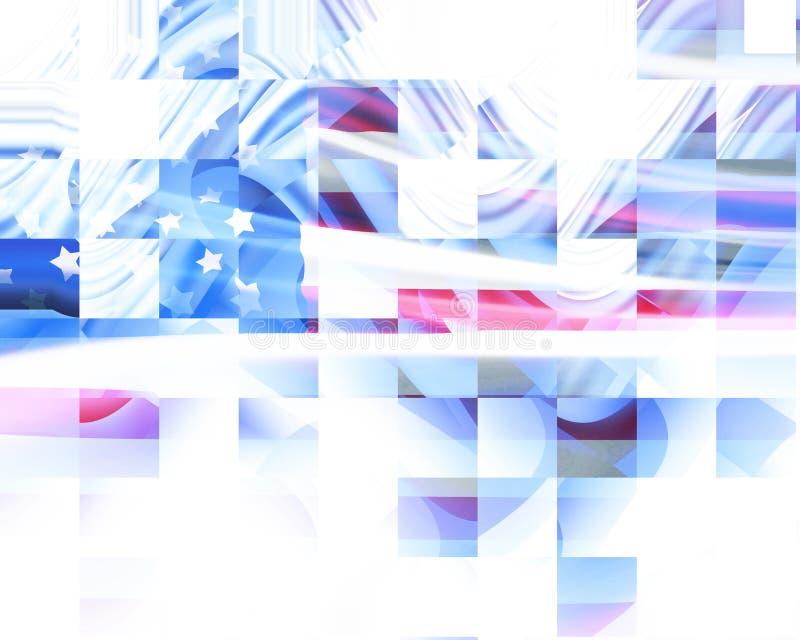 Αφηρημένη αμερικανική σημαία απεικόνιση αποθεμάτων