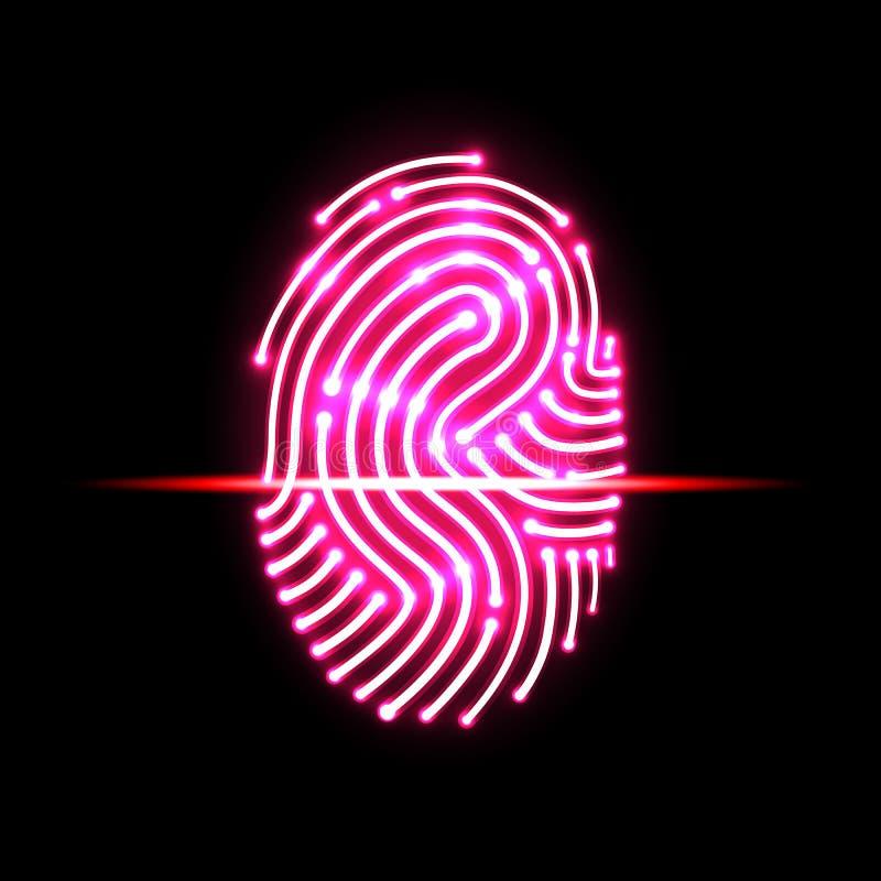 Αφηρημένη ανίχνευση δακτυλικών αποτυπωμάτων γράμμα s προσδιορισμός και ασφάλεια ελεύθερη απεικόνιση δικαιώματος