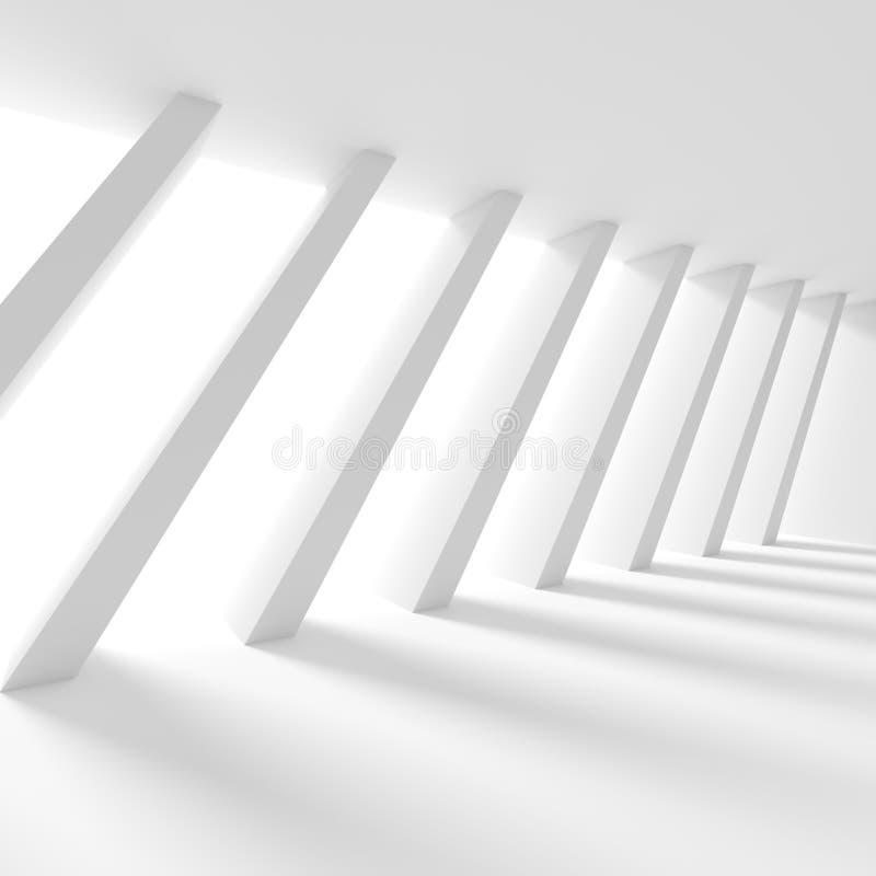 αφηρημένη ανασκόπηση αρχιτεκτονικής τρισδιάστατη απόδοση της στήλης Interio ελεύθερη απεικόνιση δικαιώματος