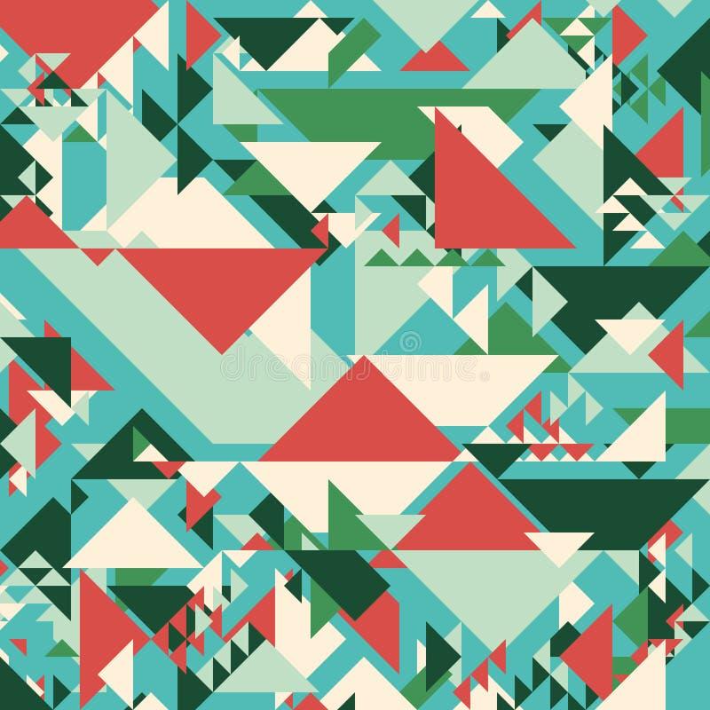 αφηρημένη ανασκόπηση γεωμ&epsil Σύγχρονα επικαλύπτοντας μεγάλα και μικρά τρίγωνα απεικόνιση αποθεμάτων