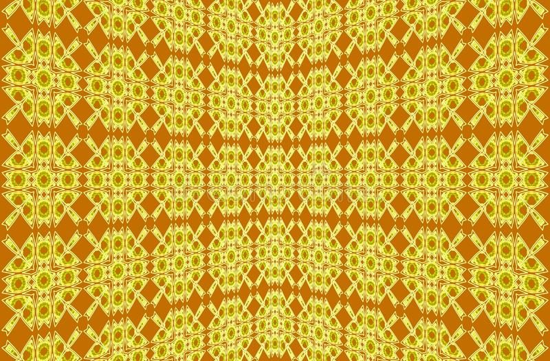 αφηρημένη ανασκόπηση Κίτρινο, καφετί μοναδικό σχέδιο από τις γεωμετρικά μορφές και τα λωρίδες ελεύθερη απεικόνιση δικαιώματος