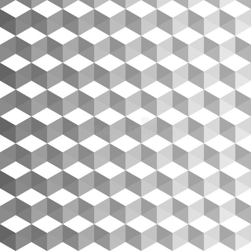 αφηρημένη ανασκόπηση κυβι&kapp Γεωμετρική διακόσμηση με τα συνδυασμένα χρώματα ελεύθερη απεικόνιση δικαιώματος