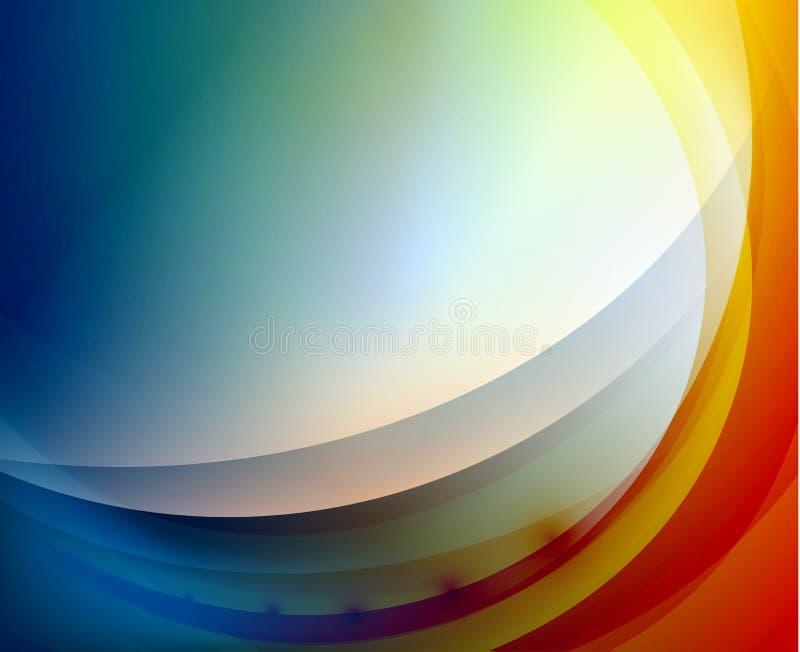 Αφηρημένη ανασκόπηση κυμάτων Aqua διανυσματική απεικόνιση