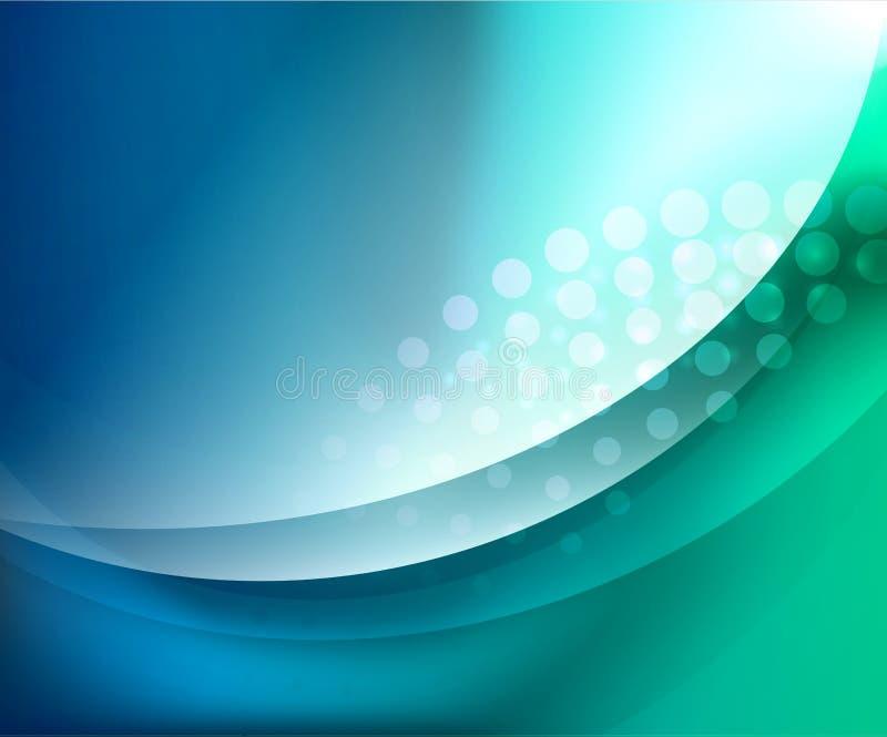Αφηρημένη ανασκόπηση κυμάτων Aqua ελεύθερη απεικόνιση δικαιώματος