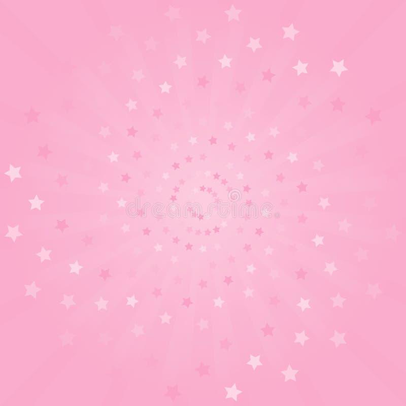 αφηρημένη ανασκόπηση Μαλακό ρόδινο υπόβαθρο ακτίνων και αστεριών διάνυσμα ελεύθερη απεικόνιση δικαιώματος