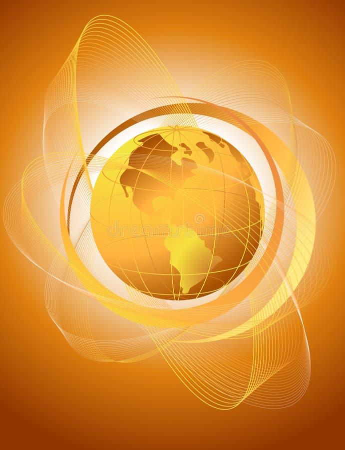 Αφηρημένη ανασκόπηση με την πορτοκαλιά σφαίρα απεικόνιση αποθεμάτων