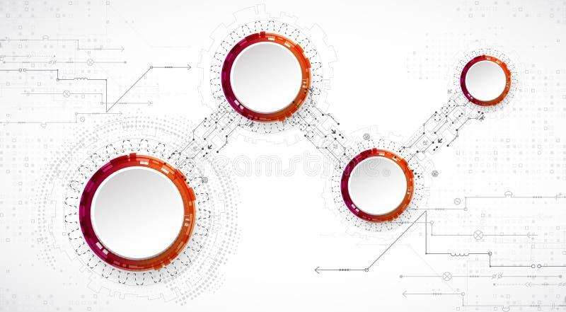 αφηρημένη ανασκόπηση τεχνο& επίσης corel σύρετε το διάνυσμα απεικόνισης ελεύθερη απεικόνιση δικαιώματος