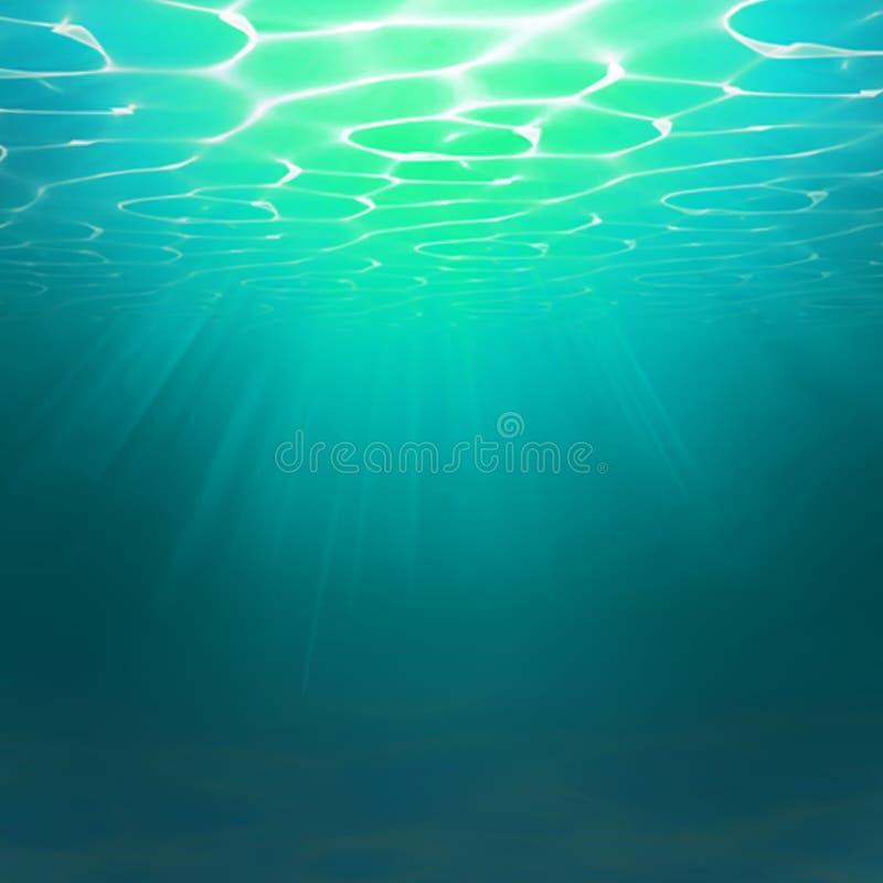 αφηρημένη ανασκόπηση υποβρύχια Αποτελέσματα κυμάτων νερού Τυρκουάζ ρεαλιστική ωκεάνια θάλασσα υπόκοσμων Επιφάνεια ωκεανών ή θάλασ απεικόνιση αποθεμάτων