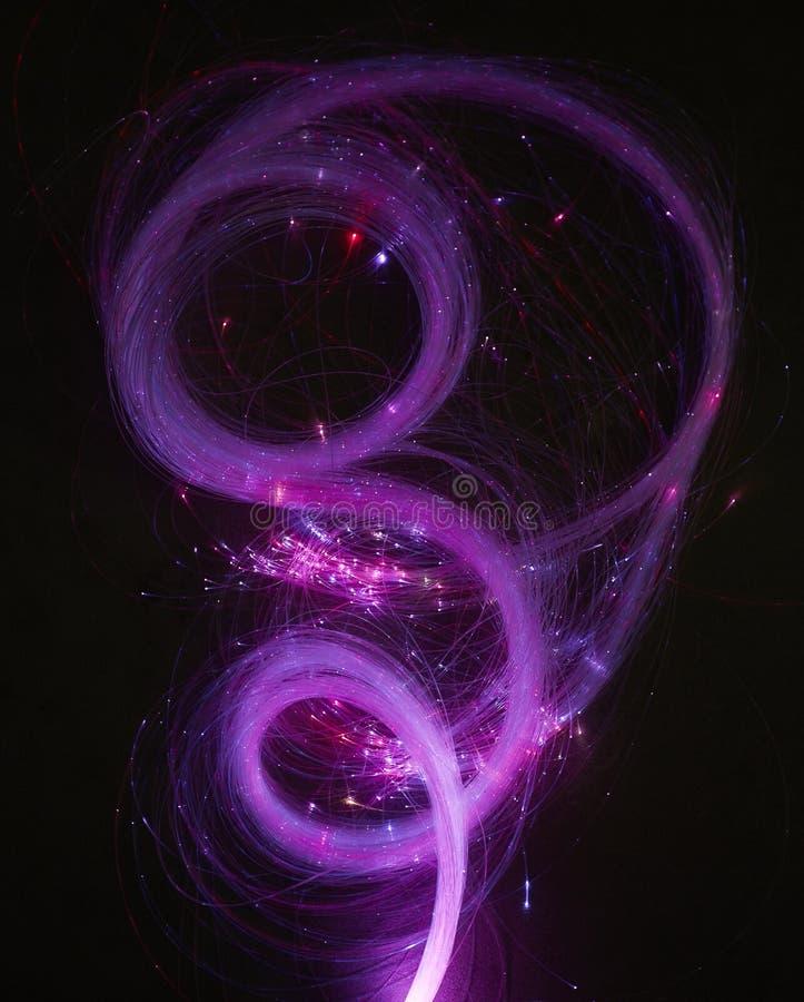αφηρημένη ανασκόπηση φωτεινό να στροβιλιστεί Κομψή πυράκτωση Να προκαλέσει το μόριο Glint γραμμές στοκ φωτογραφία