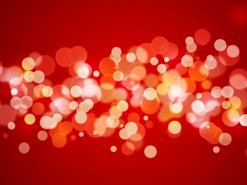 Αφηρημένη ανασκόπηση - φω'τα Χριστουγέννων διανυσματική απεικόνιση