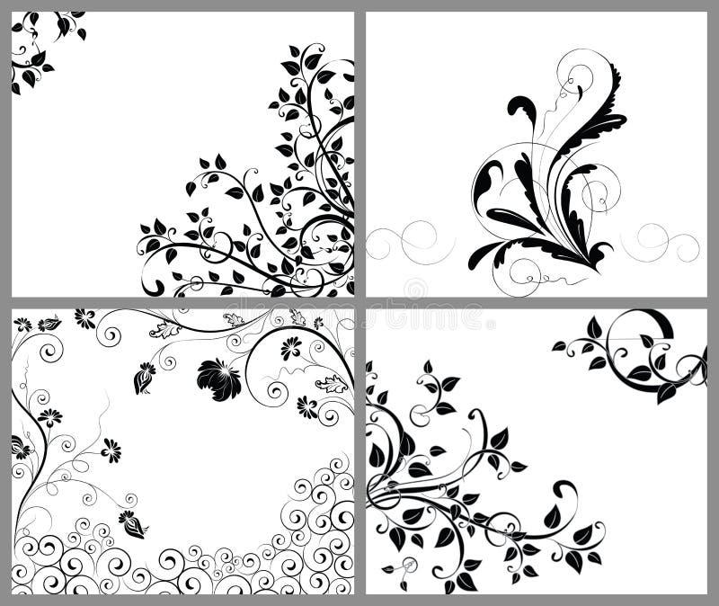 αφηρημένη ανασκόπηση floral απεικόνιση αποθεμάτων