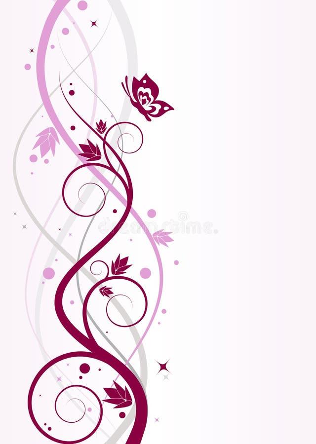 αφηρημένη ανασκόπηση floral διανυσματική απεικόνιση