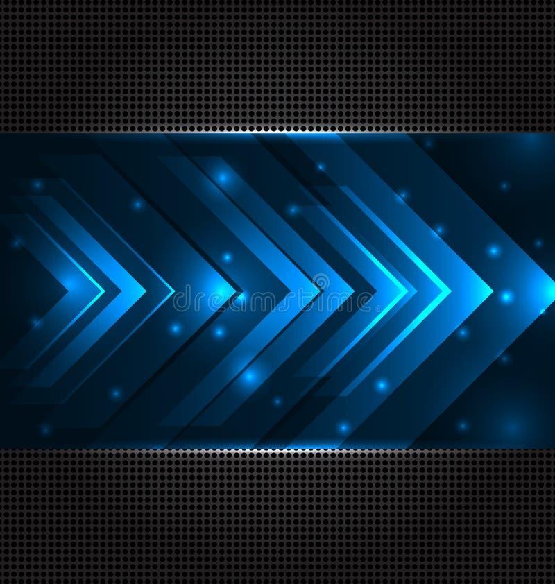 Αφηρημένη ανασκόπηση techno με τα καθορισμένα διαφανή βέλη διανυσματική απεικόνιση