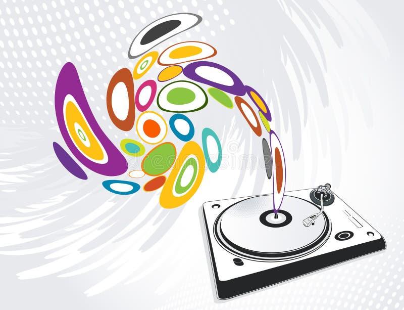 Αφηρημένη απεικόνιση ενός DJ-αναμίκτη, διάνυσμα απεικόνιση αποθεμάτων