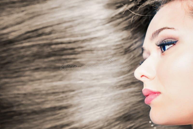 αφηρημένη απεικόνιση μόδας εμβλημάτων hairstyle όμορφη μακριά ευθεία γυν&alpha στοκ φωτογραφία με δικαίωμα ελεύθερης χρήσης