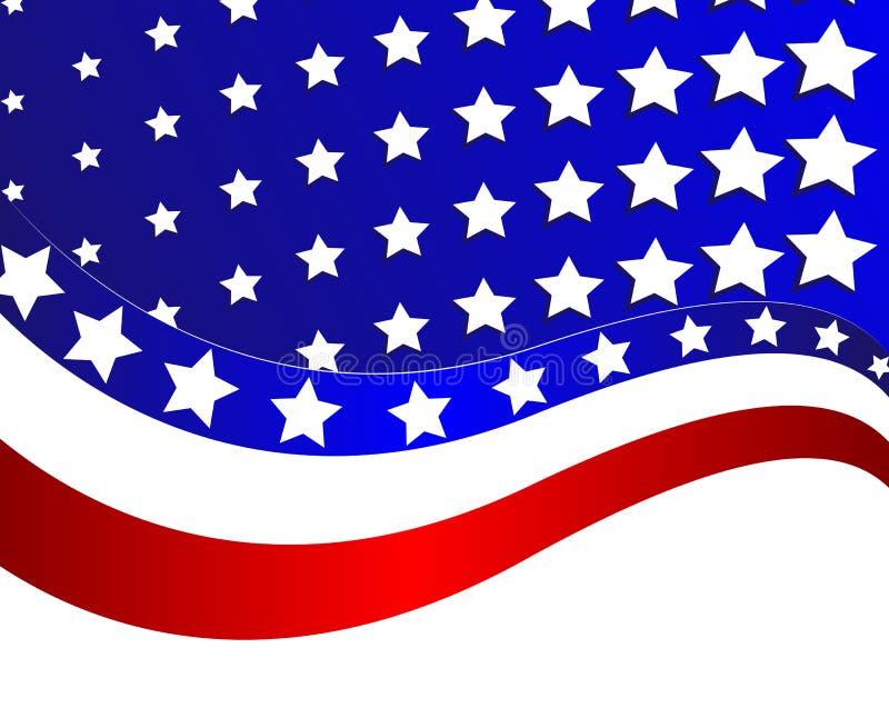 Αφηρημένη απεικόνιση της ΑΜΕΡΙΚΑΝΙΚΗΣ σημαίας ελεύθερη απεικόνιση δικαιώματος