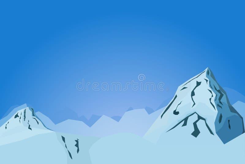 Αφηρημένη απεικόνιση τοπίων βουνών διανυσματική με τους λόφους στοκ φωτογραφία