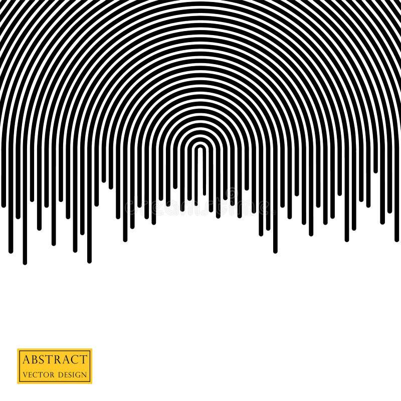 Αφηρημένη απεικόνιση του σταλάγματος, η τρέχουσα επίδραση του χρώματος Ριγωτή ημικυκλική γραμμή της λουρίδας E ελεύθερη απεικόνιση δικαιώματος