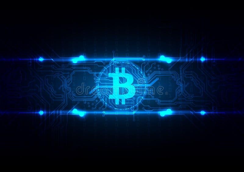 Αφηρημένη απεικόνιση υποβάθρου τεχνολογίας Bitcoin κυκλωμάτων vec απεικόνιση αποθεμάτων