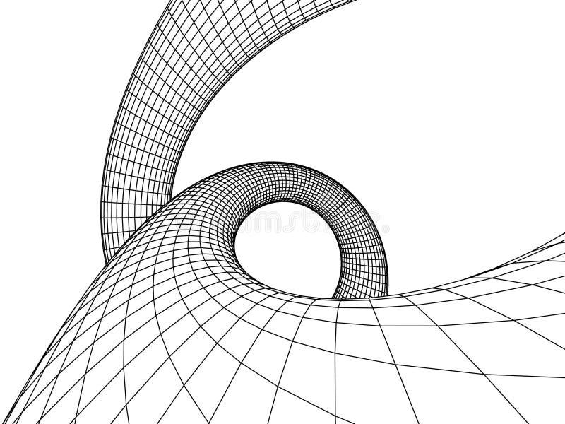 αφηρημένη αρχιτεκτονική διανυσματική απεικόνιση