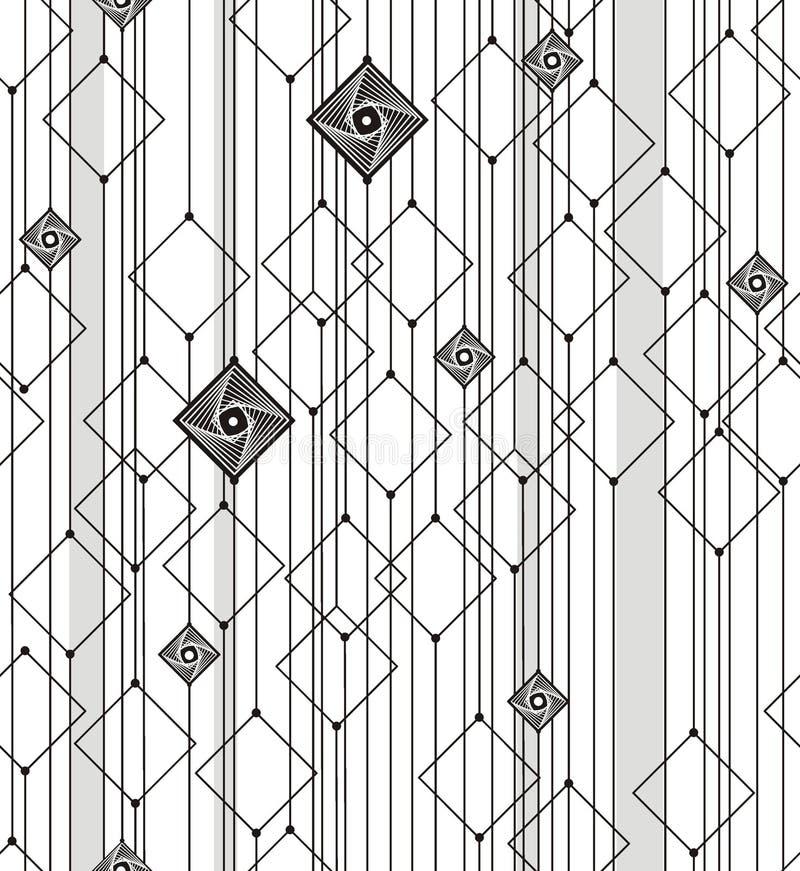 Αφηρημένη γεωμετρία από τα τετράγωνα και τις γραμμές ελεύθερη απεικόνιση δικαιώματος