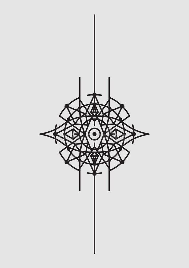 Αφηρημένη γεωμετρική διανυσματική απεικόνιση, Mandala, Dreamcatcher διανυσματική απεικόνιση