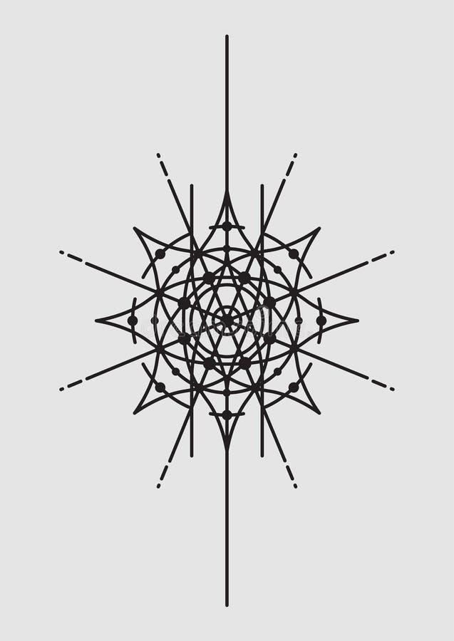 Αφηρημένη γεωμετρική διανυσματική απεικόνιση, Mandala, Dreamcatcher - διανυσματική απεικόνιση