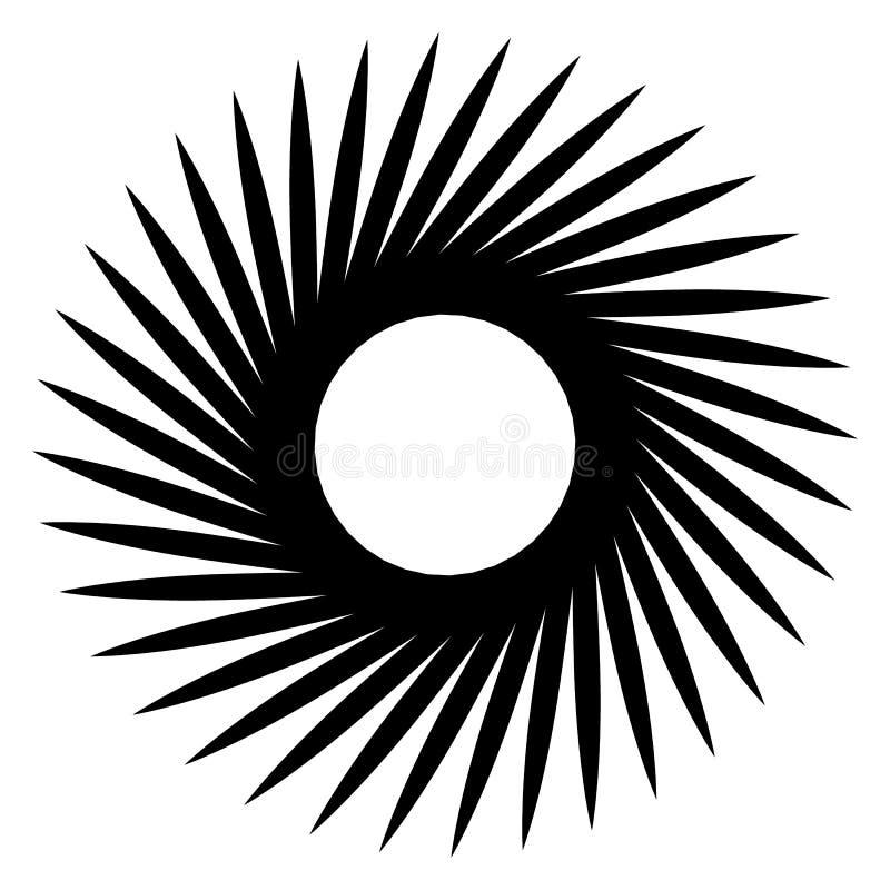 Αφηρημένη γεωμετρική σπείρα, στοιχείο κυματισμών με κυκλικό, concent ελεύθερη απεικόνιση δικαιώματος