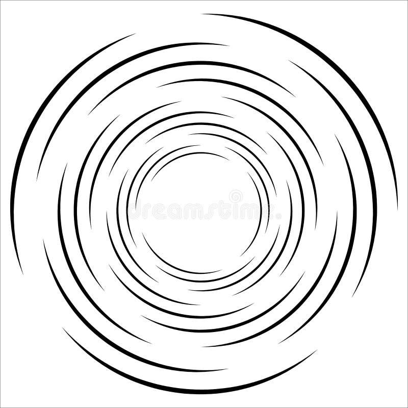 Αφηρημένη γεωμετρική σπείρα, στοιχείο κυματισμών με κυκλικό, concent απεικόνιση αποθεμάτων