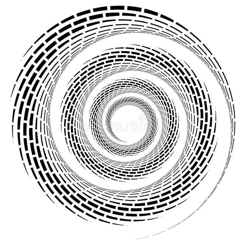 Αφηρημένη γεωμετρική σπείρα, στοιχείο κυματισμών με κυκλικό, concent διανυσματική απεικόνιση