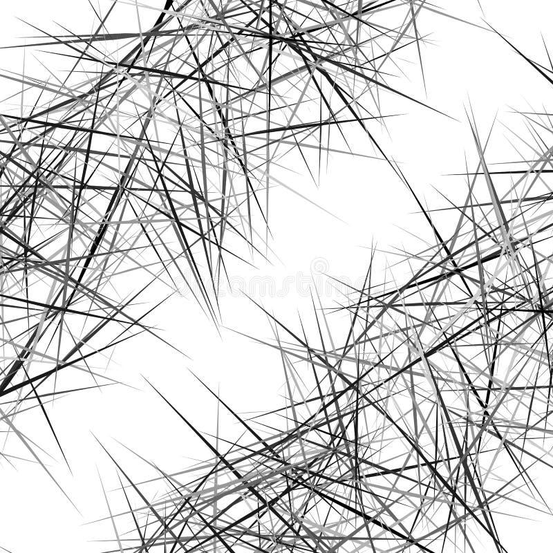 Αφηρημένη γεωμετρική σύσταση, σχέδιο με τις δυναμικές τυχαίες γραμμές Α διανυσματική απεικόνιση
