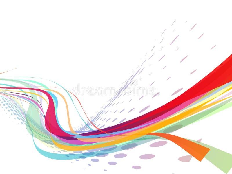 Αφηρημένη γραμμή κυμάτων ουράνιων τόξων απεικόνιση αποθεμάτων