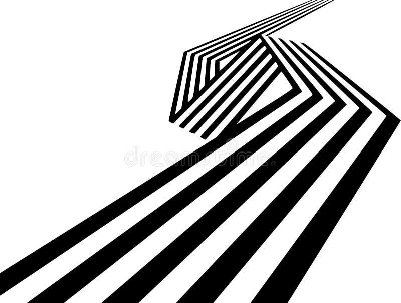 Αφηρημένη γραπτή καμμμένη λωρίδες γεωμετρική μορφή κορδελλών απεικόνιση αποθεμάτων