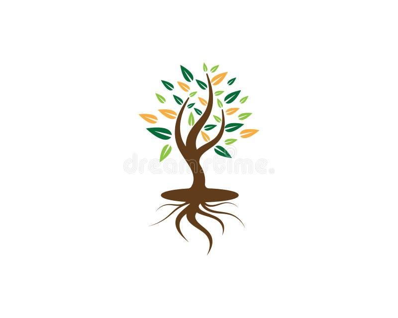 Αφηρημένη διανυσματική απεικόνιση σχεδίου λογότυπων δέντρων ελεύθερη απεικόνιση δικαιώματος